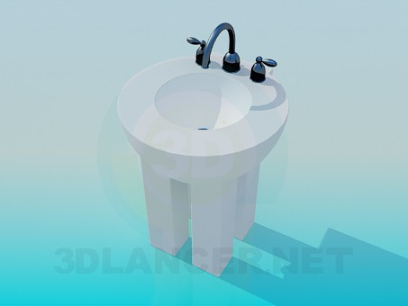3d modeling Sink with legs model free download