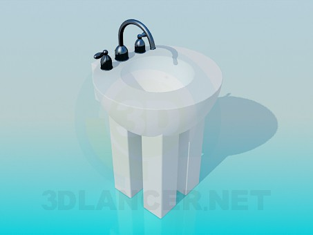 3d model Sink with legs - preview