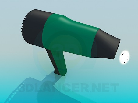 3d modeling Hair Dryer model free download