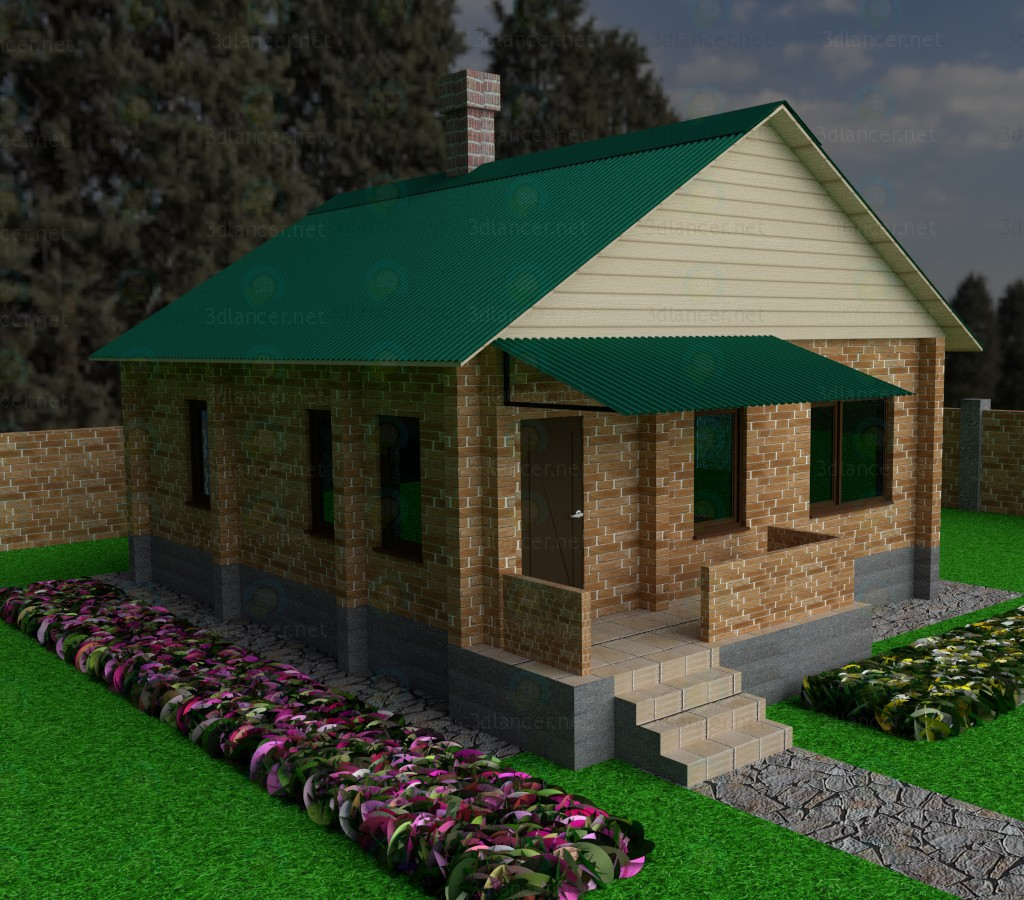 3d modeling Holiday house model free download