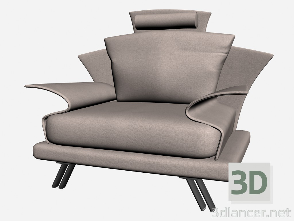 3d modeling Super Chair roy with headrest 3 model free download