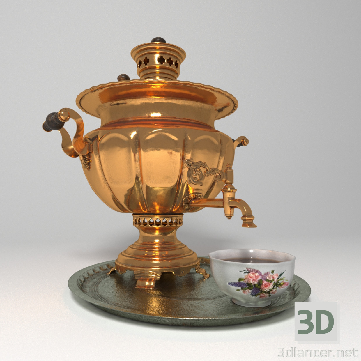 3d modeling Samovar model free download