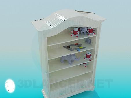 modelo 3D Estante para juguetes - escuchar