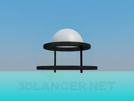 3d модель Лампа галогенова – превью