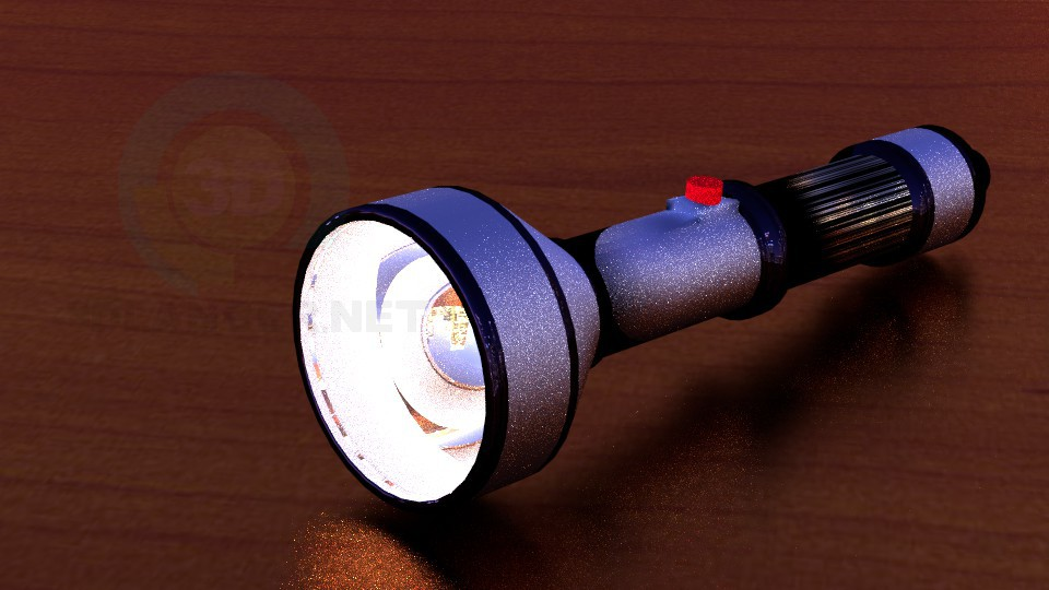 3d modeling flashlight model free download