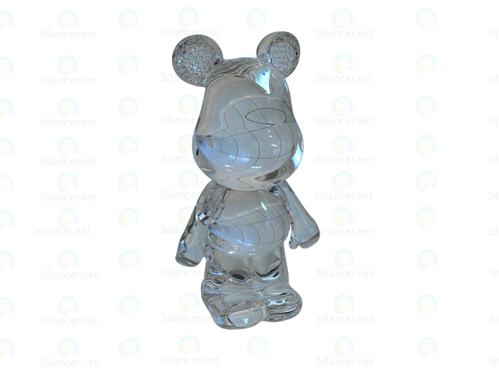 3d model Piggy Funky Bear Crystal Big - preview