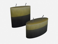 Scented candles in art deco candle Parfume media
