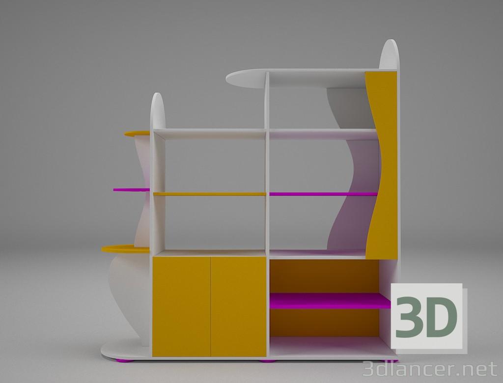 3d Cupboard for books model buy - render