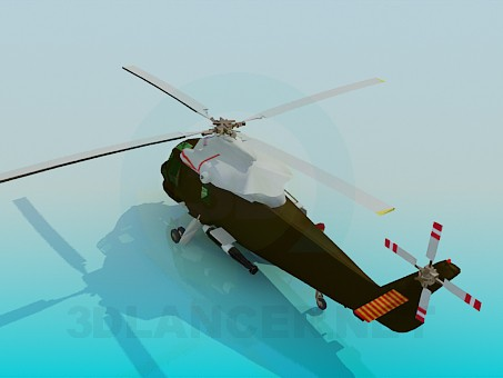 3d model AIRCRAFT : The Kaman SH-2F - preview