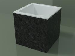 Vasque à poser (01R112101, Nero Assoluto M03, L 36, P 36, H 36 cm)