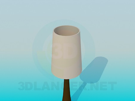 3d model Narrow table stand  lamp - preview