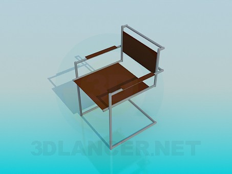 3d modeling Metal chair model free download