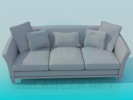 3d modeling Sofa with three sections model free download