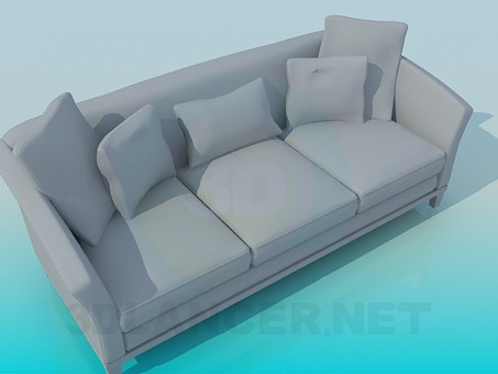 3d model Sofa with three sections - preview