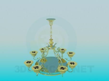 modelo 3D Araña de oro - escuchar
