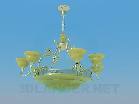 3d model Golden chandelier - preview