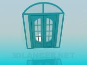 Puerta doble con cristal