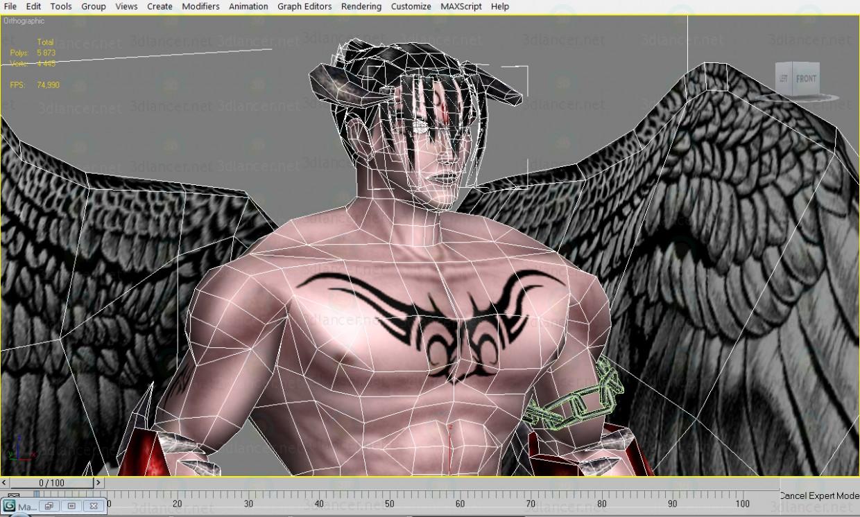 Hombre diablo 3D modelo Compro - render
