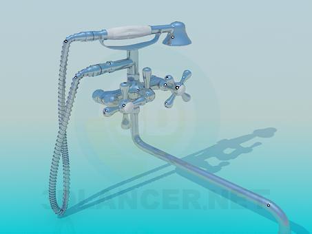 3d модель Смеситель в ванную – превью