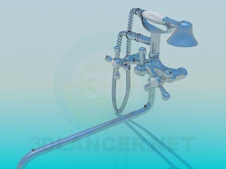 modelo 3D Grifo en el baño - escuchar