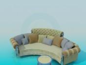 Semi-circular sofa