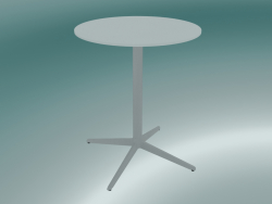 Tavolo MISTER X (9505-01 (Ø60cm), H 73cm, bianco, bianco)