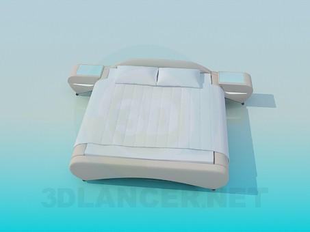 descarga gratuita de 3D modelado modelo Cama de matrimonio