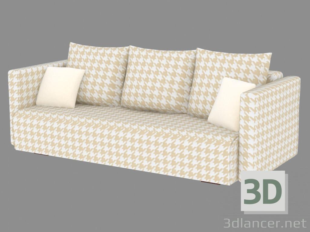 3d model triple sofa bed manufacturer pushe id 19312 for Sofa bed 3d model