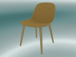 Fiber chair with wood base (Ocher, Oak)