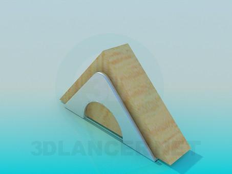 3d моделирование Подставка для салфеток модель скачать бесплатно