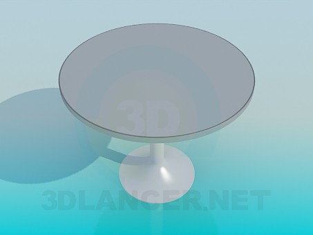 3d model Round cafe table - preview