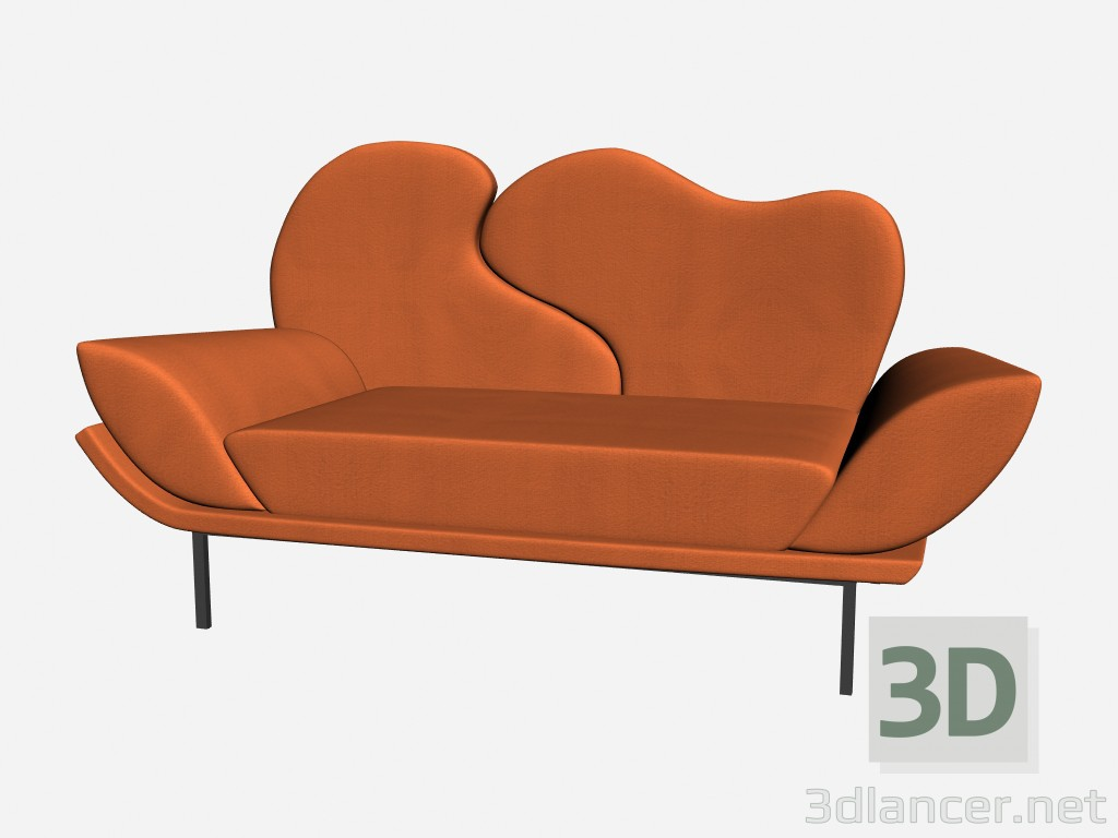 3d model Broad Wing Chair - preview