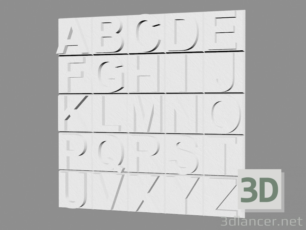 3d modeling Gypsum wall panel (art. 1012) model free download