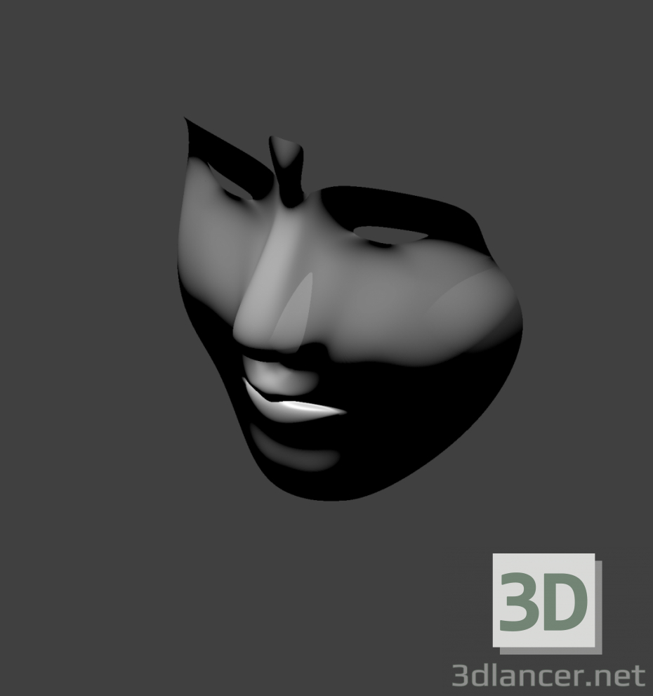 3d model female mask - preview