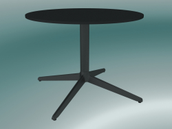 Table MISTER X (9505-51 (Ø60cm), H 50cm, noir, noir)