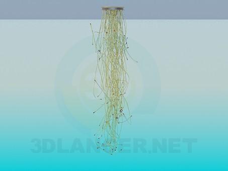 3d модель Светильник с проводами – превью