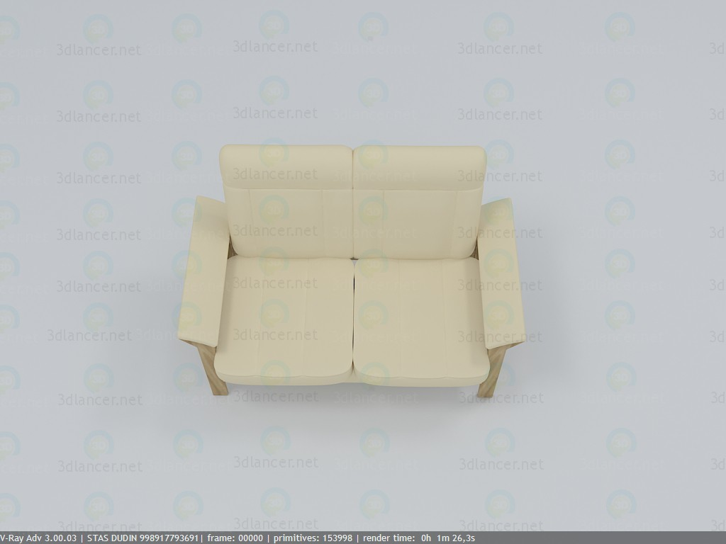 sofa paid 3d model by stasonich preview