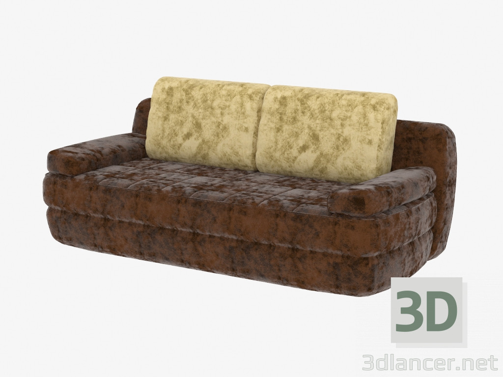3d model double sofa bed manufacturer pushe id 19314 for Sofa bed 3d model