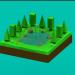 3D modeli Düşük Poli Ormanı - önizleme