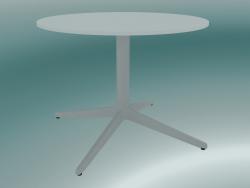 Tavolo MISTER X (9505-51 (Ø60cm), H 50cm, bianco, bianco)