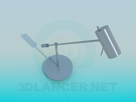 3d моделирование Настольная лампа цилиндр модель скачать бесплатно