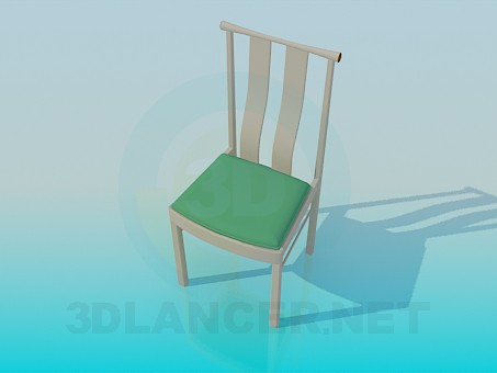 3d модель Стілець зі зручною спинкою – превью
