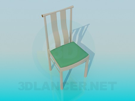 3d model Chair with comfortable headboard - preview