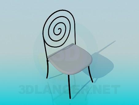 3d модель Стілець з металевою спинкою – превью