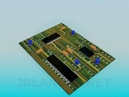 3d model Circuit board - preview