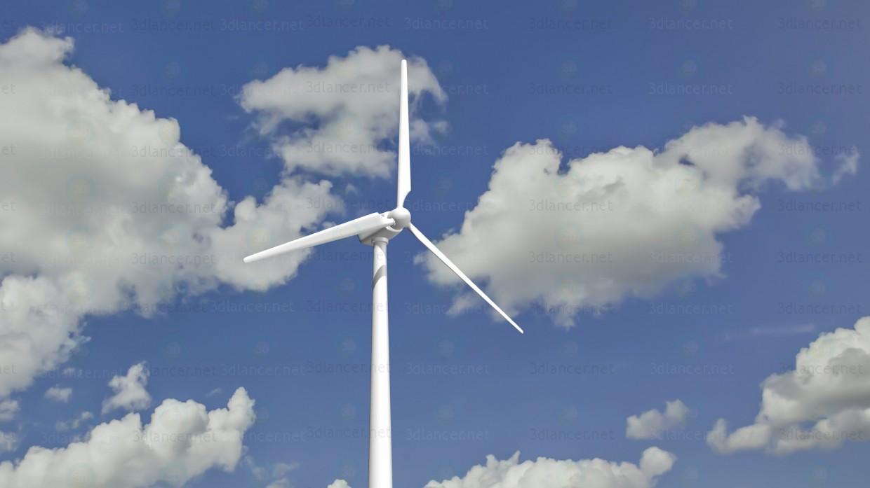 modelo 3D Molino de viento - escuchar