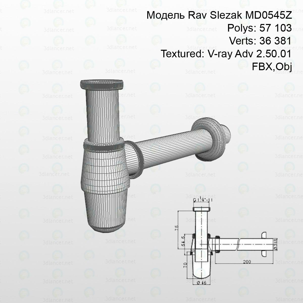 Sifón Rav Slezak MD0545Z 3D modelo Compro - render