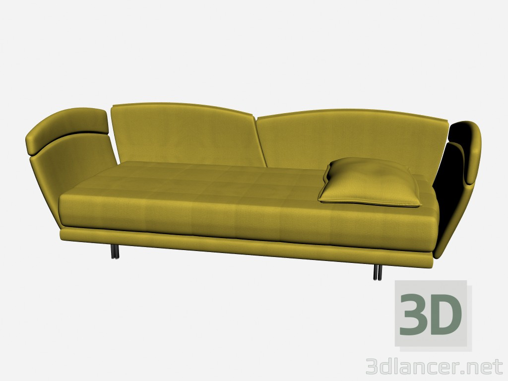 3d model AURORA Bed BABY LETTO - preview