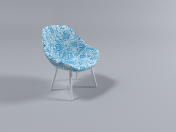 Chair Chair # 0478 (Chair Blue)