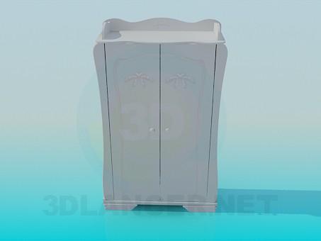 modelo 3D Armario en un dormitorio - escuchar